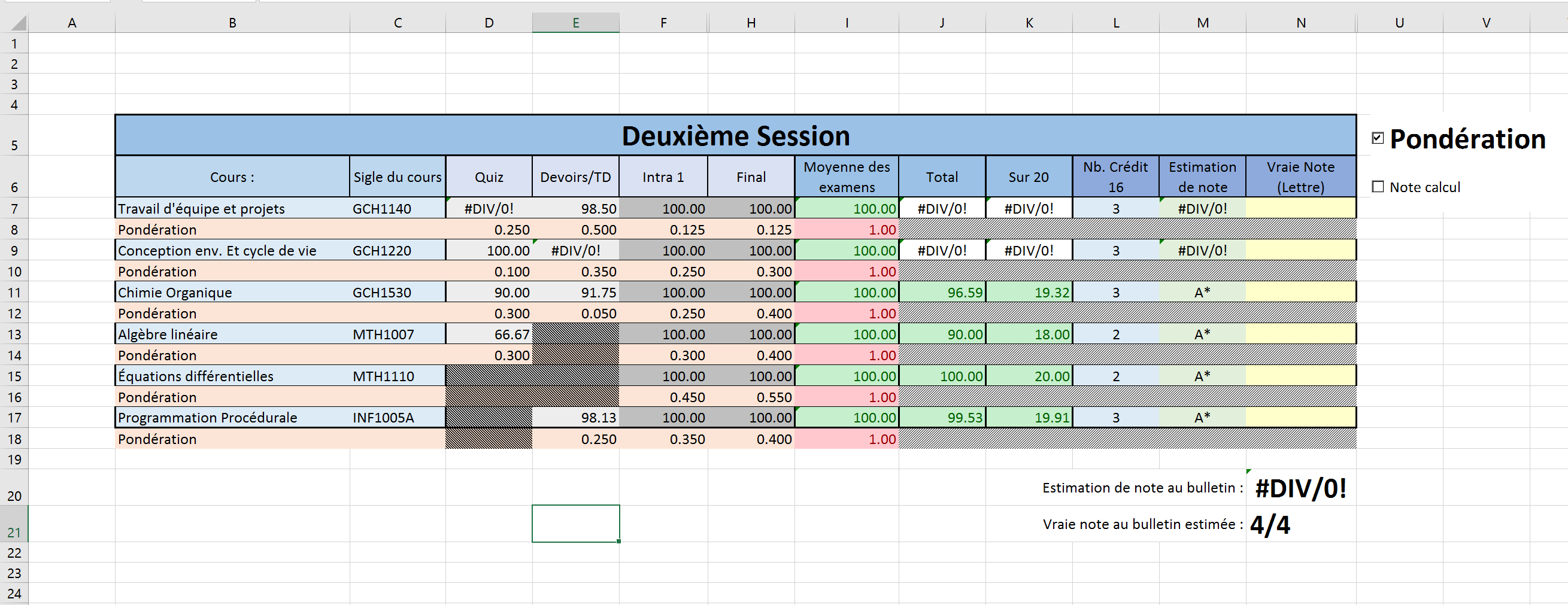 Gp Calculator Spreadsheet Regarding Grades Spreadsheet And Gpa Calculator  Album On Imgur
