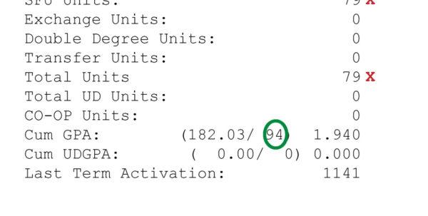 Gp Calculator Spreadsheet Within Gpa Calculator  Student Services  Simon Fraser University