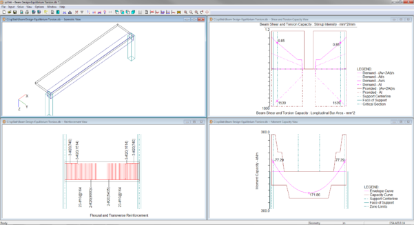 Grade Beam Design Spreadsheet Pertaining To Reinforced Concrete Beam  Slab Analysis  Design Software