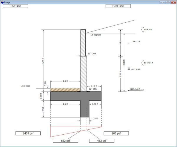 Grade Beam Design Spreadsheet With Regard To Cantilever And Restrained Retaining Wall Design Software