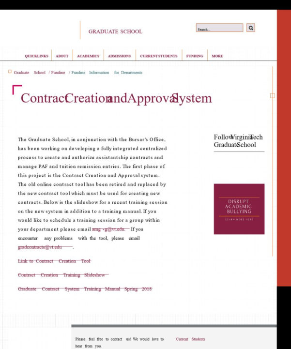 Graduate School Spreadsheet Intended For Contract Creation And Approval System  Graduate School  Virginia Tech