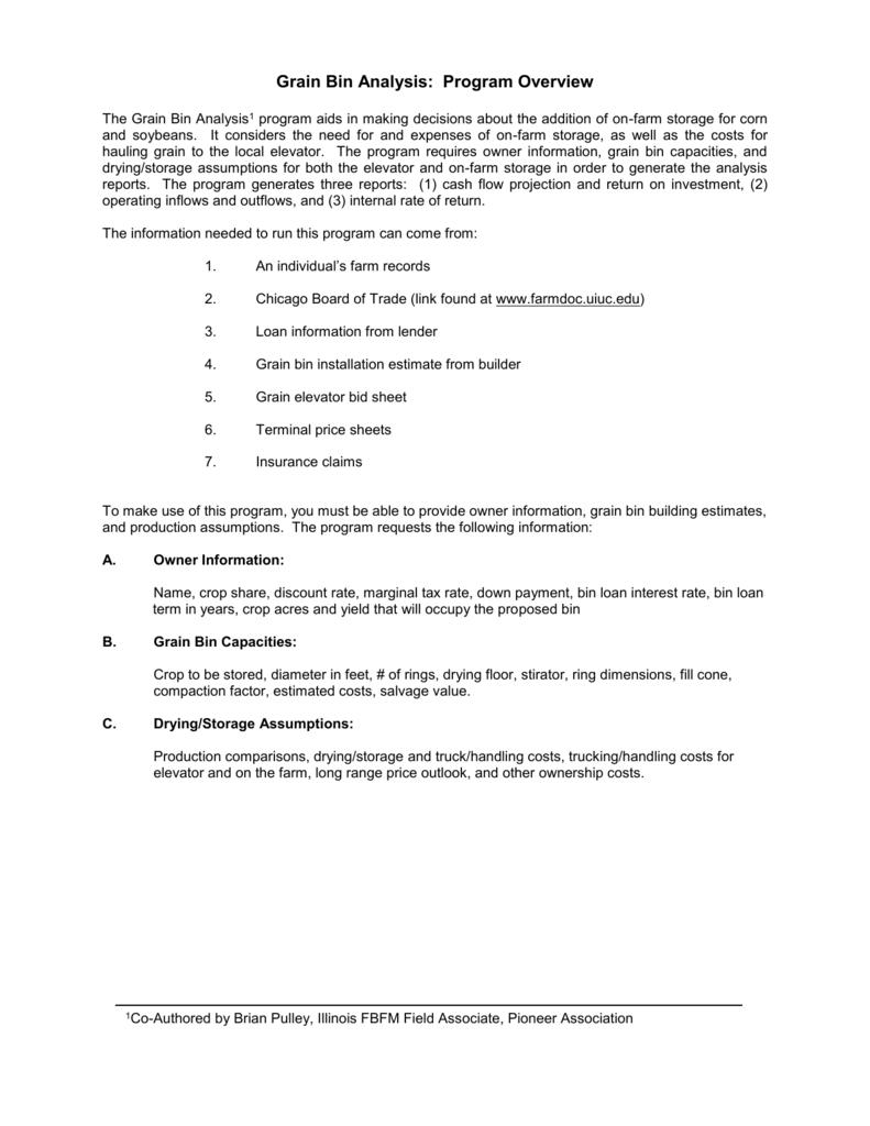 Grain Moisture Spreadsheet With Regard To Grain Bin Analysis