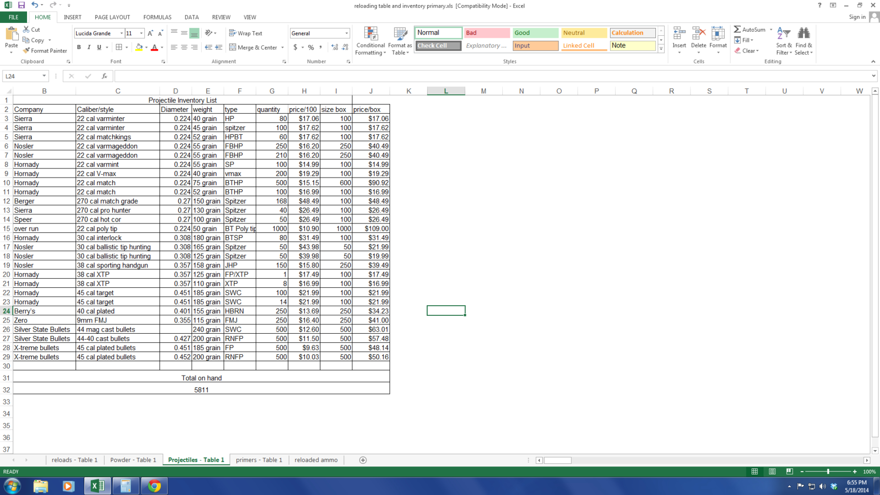 Grain Sales Spreadsheet With Regard To Inventory Tracking With Excel  Shooters Forum