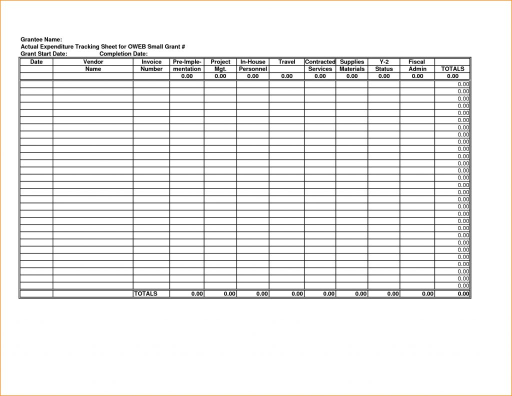 grant tracking spreadsheet template printable spreadshee grant tracking spreadsheet template