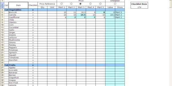 Grocery List Spreadsheet Regarding Shopping Spreadsheet  Alex.annafora.co