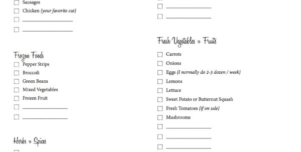 Grocery List With Coupons Spreadsheet In Spreadsheet Example Of Grocery List Budget Grocerylistimage Sample