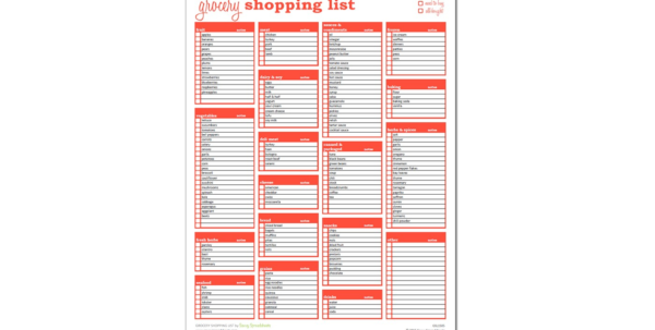 Grocery List With Coupons Spreadsheet With 007 Household Shopping List Excel Template Savvy Spreadsheets
