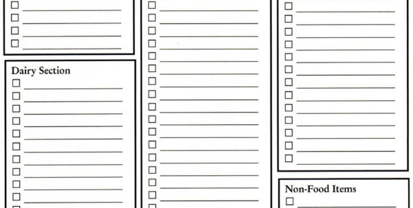 Grocery Spreadsheet With Grocery Spreadsheet And Grocery List Blank Template Great Idea Need