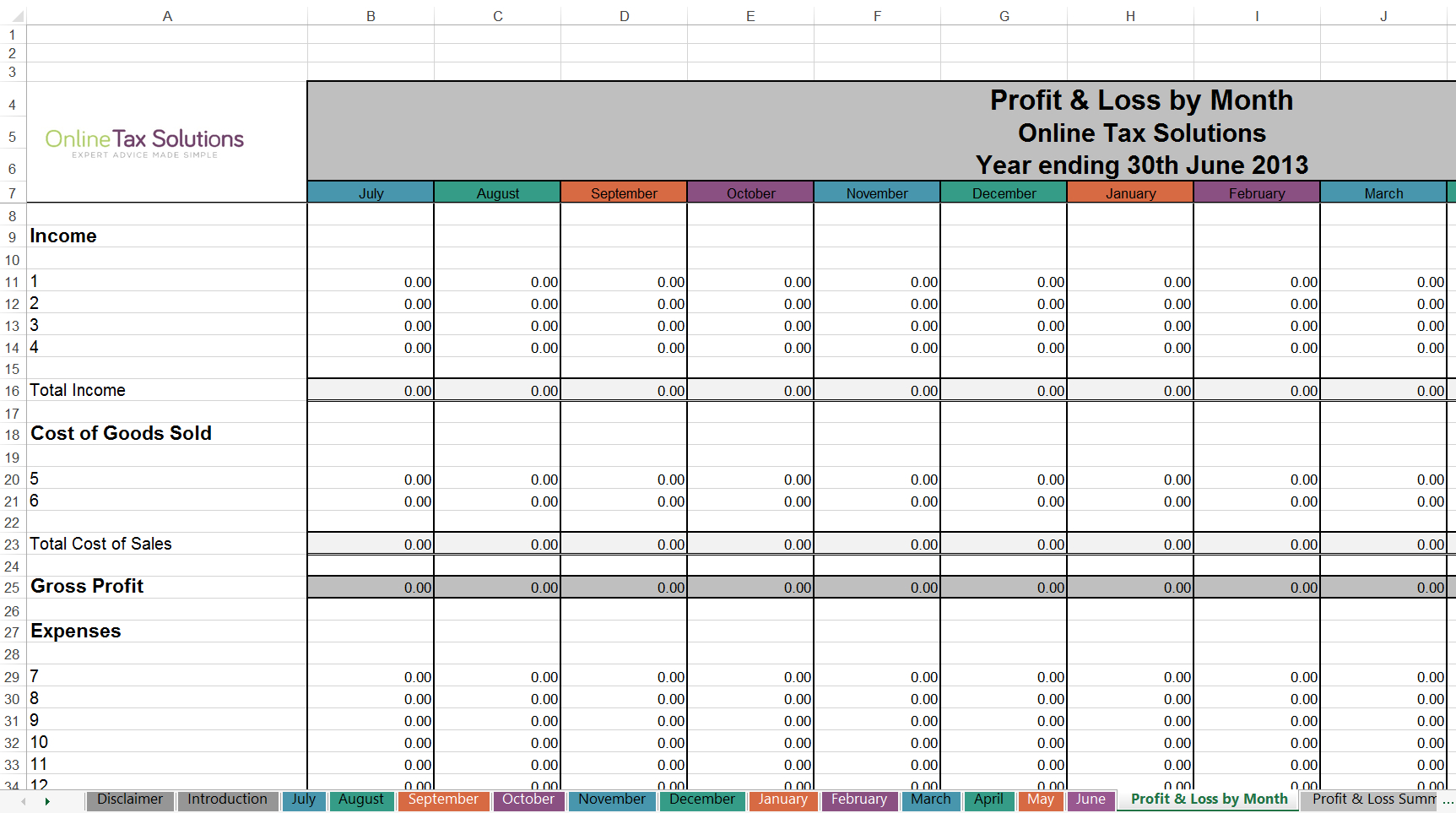 Gst Spreadsheet Template Australia In Free Cashbook Online Tax Solutions