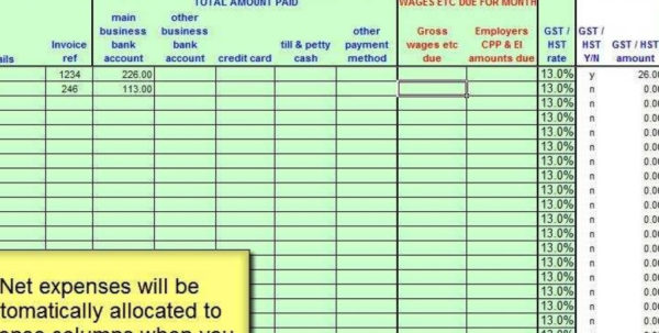 Gst Spreadsheet Template Canada Intended For Canadian Salon  Gst,hst Accounting Spreadsheet  Youtube With Gst Spreadsheet Template Canada Printable Spreadsheet
