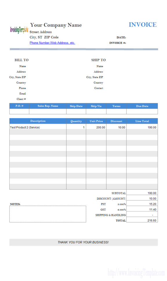 Gst Spreadsheet Template Canada Regarding Free Excel Quote Template