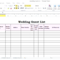 Guest List Spreadsheet Regarding Best Wedding Guest List Spreadsheet Download 1  Discover China Townsf