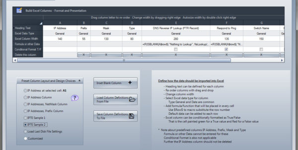 Gui For Excel Spreadsheet Intended For Check The Network  Ip Tools For Excel Features Overview