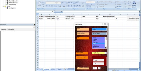 Gui For Excel Spreadsheet With Regard To Make Your Own Guigraphical User Interface Without Visual Studio In