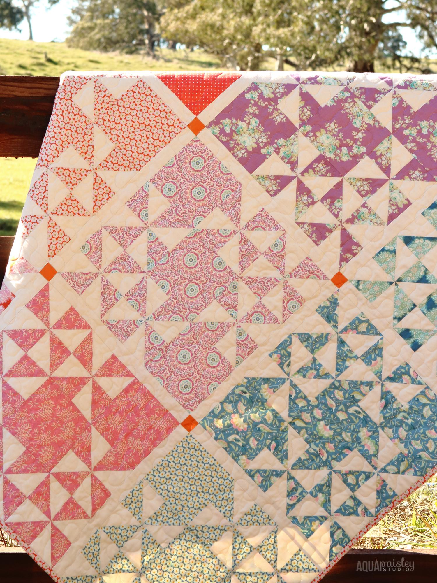 Gypsy Wife Quilt Spreadsheet Intended For Tilda Harvest Blog Hop  Harvest Market Quilt  Aqua Paisley Studio