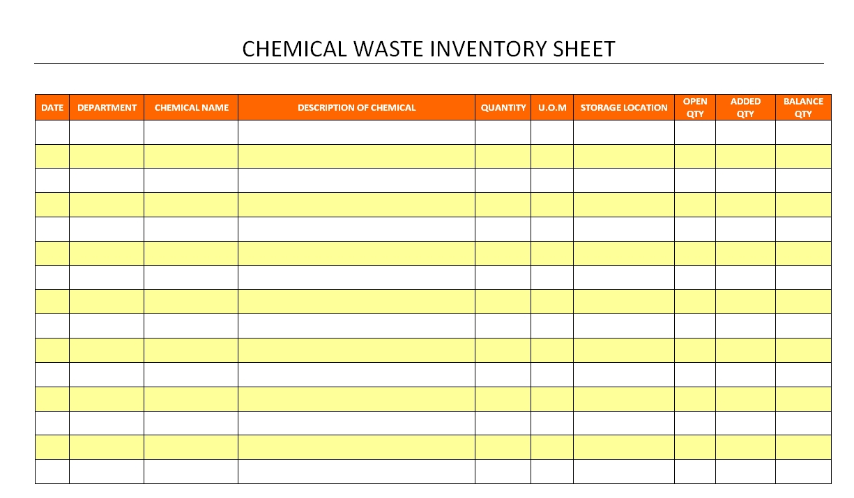 Hazardous Material Inventory Spreadsheet Pertaining To Chemical Inventory Template Excel Spreadsheet Database Sheet