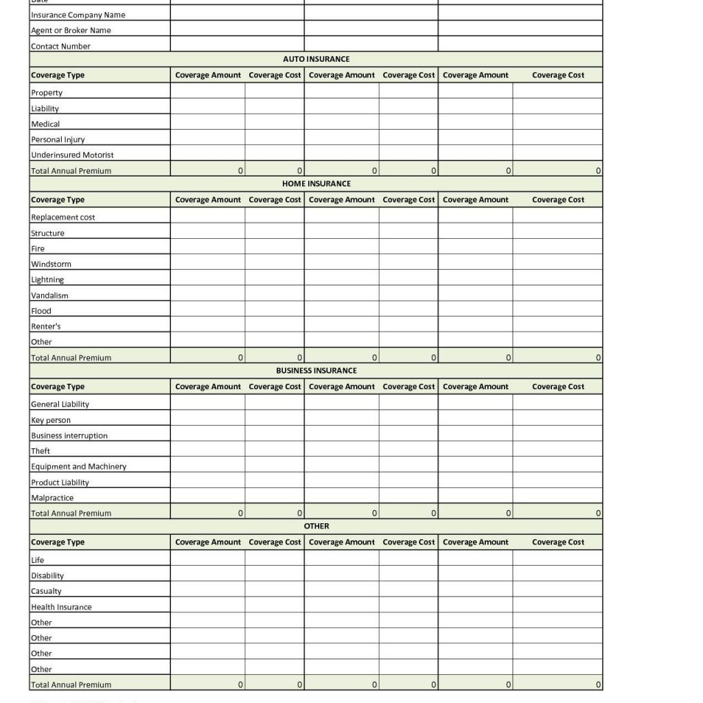 Health Insurance Cost Comparison Spreadsheet Regarding Health Insurance Comparison Spreadsheet Template And Opm Health