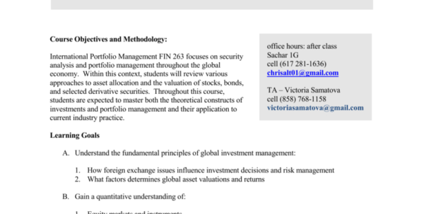 Hedging Currency Risks At Aifs Spreadsheet With Regard To Syllabus  Brandeis University
