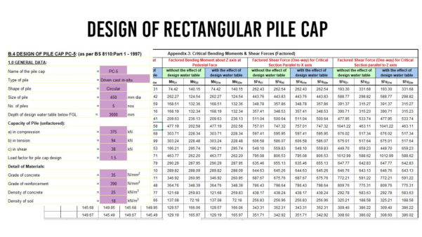 Helical Pile Design Spreadsheet Inside Helical Pile Design Software And Pile Cap Design Spreadsheet