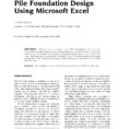 Helical Pile Design Spreadsheet Pertaining To Pdf Pile Foundation Design Using Microsoft Excel