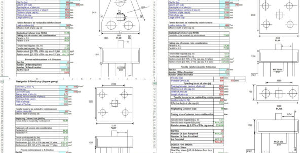Helical Pile Design Spreadsheet With Helical Pile Design Software And Pile Cap Design Spreadsheet