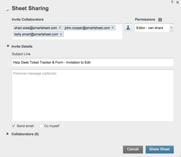 Help Desk Ticket Tracking Spreadsheet Throughout How To Implement An Effective It Ticketing System  Smartsheet