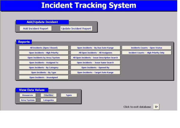 Help Desk Ticket Tracking Spreadsheet Within Download Material Tracking System Software: Incident Tracking System