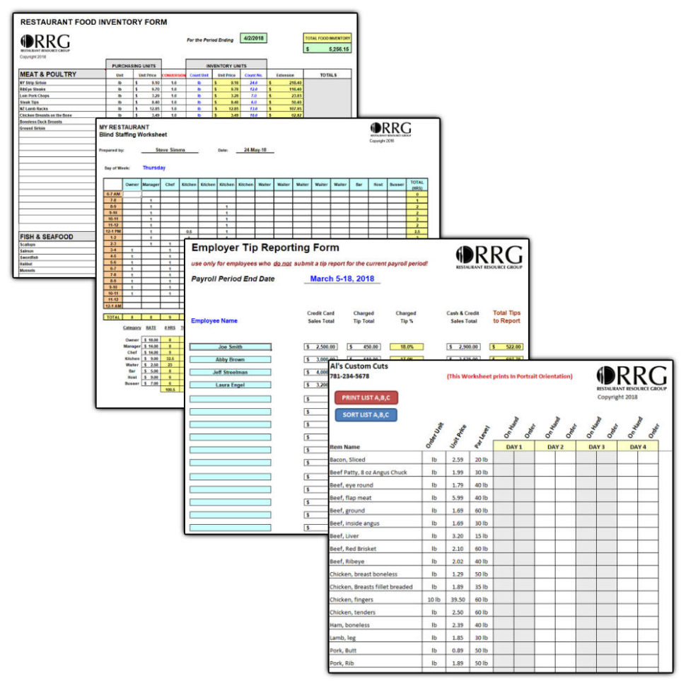 Help To Buy Spreadsheet Inside Restaurant Operations  Management Spreadsheet Library