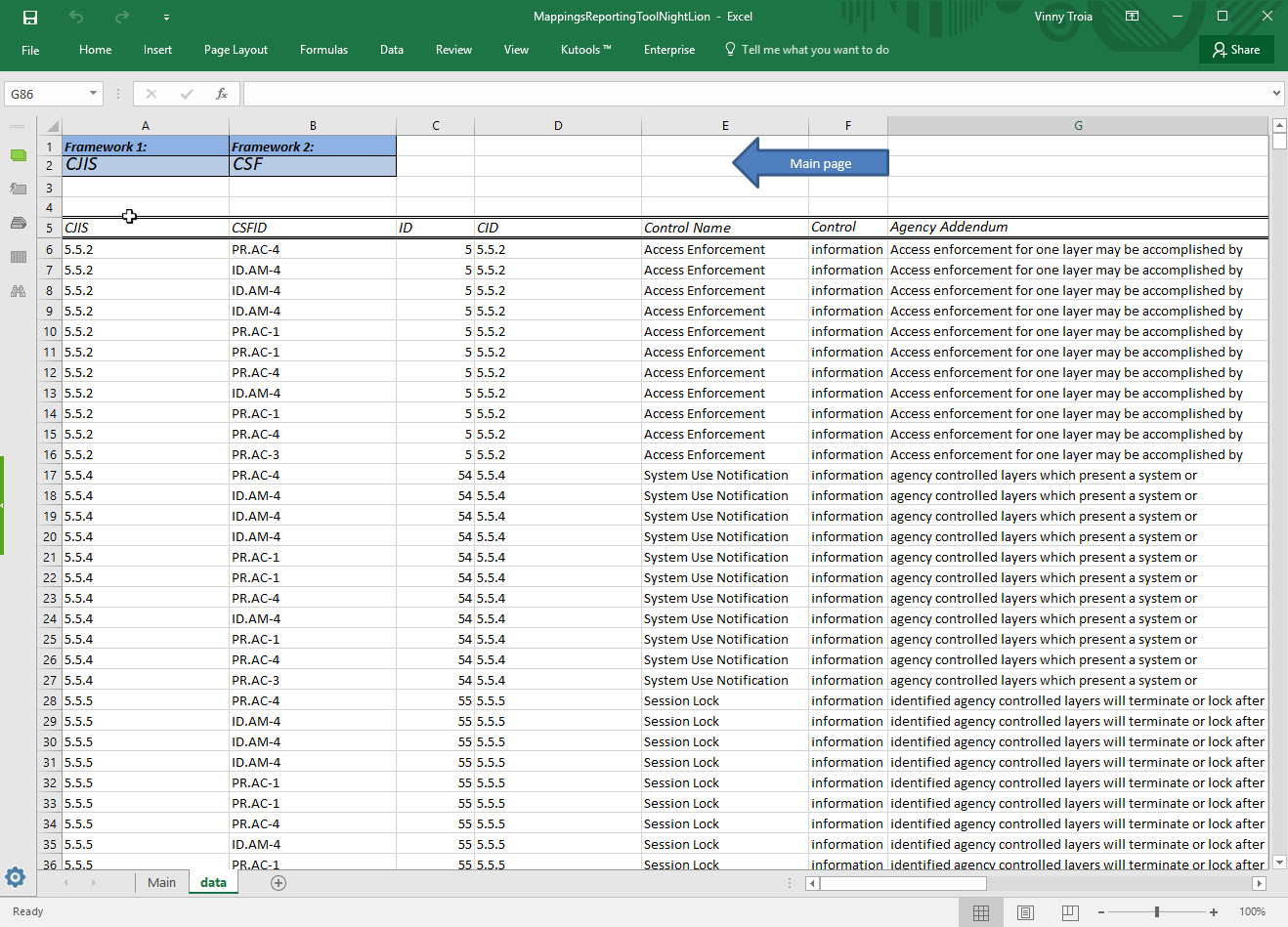 Hitrust Csf Spreadsheet For Security Compliance Controls Framework Crossmapping Tool V3