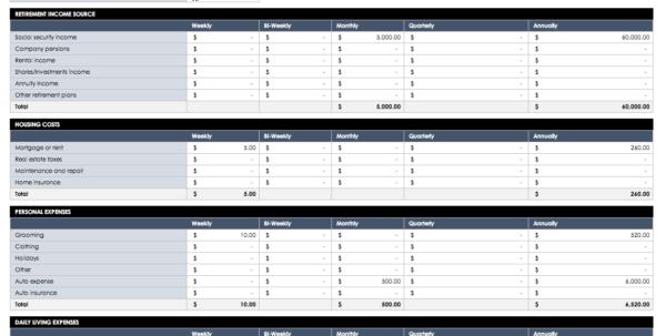 Hoa Budget Spreadsheet Regarding Free Budget Templates In Excel For Any Use Hoa Budget Spreadsheet Printable Spreadsheet