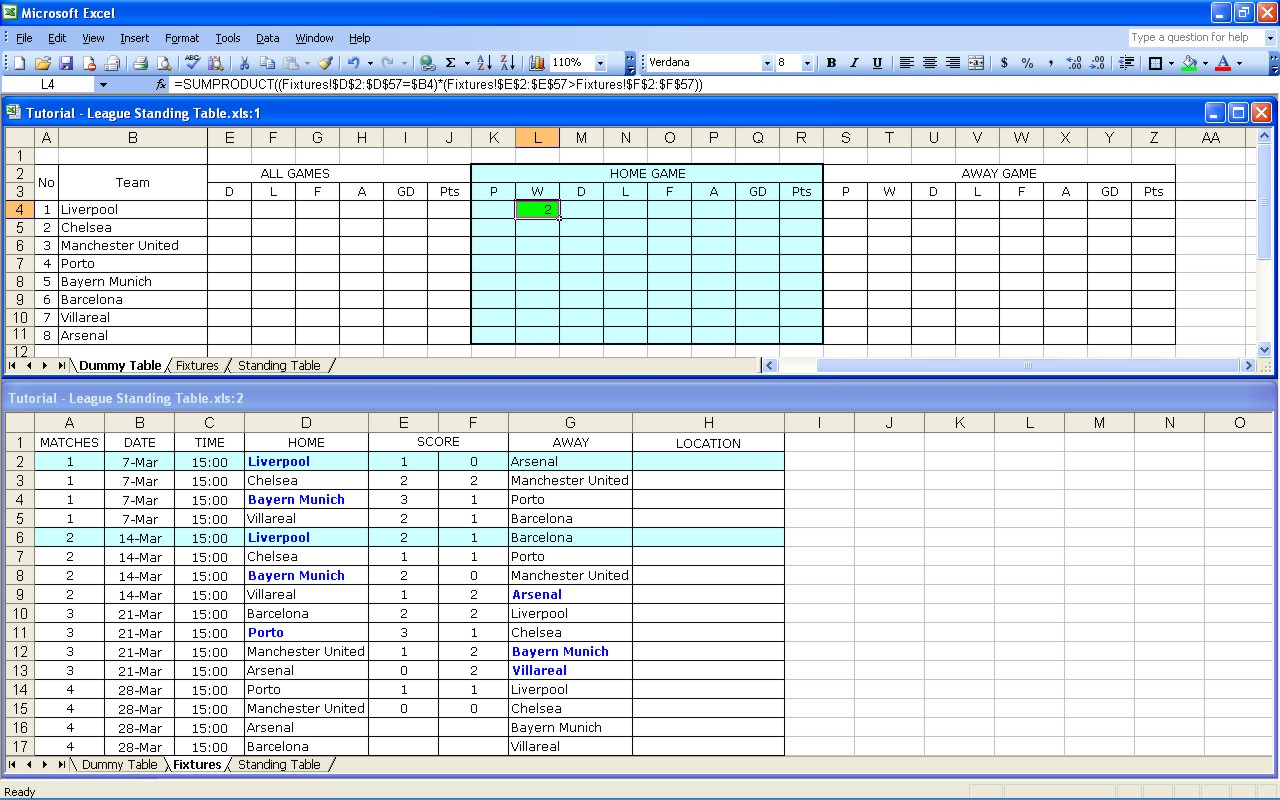 Hockey Team Budget Spreadsheet With Regard To Create Your Own Soccer League Fixtures And Table  Excel Templates