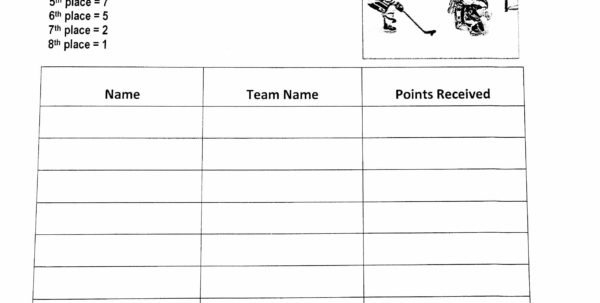 Hockey Team Stats Spreadsheet Regarding Floor Hockey  Physical Education With A Purpose