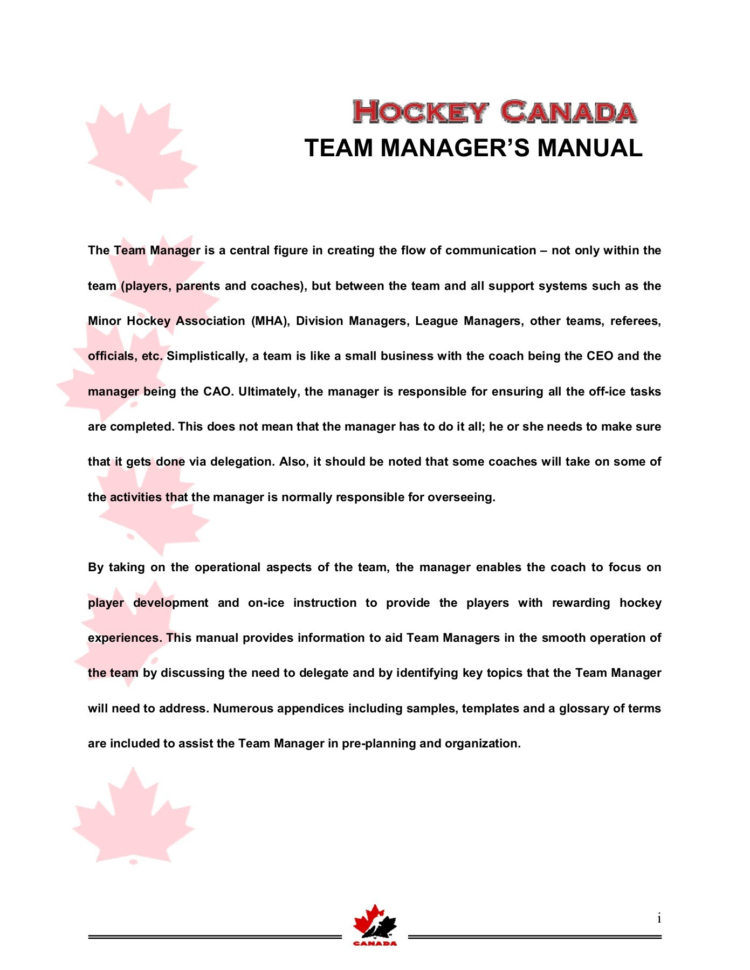 Hockey Team Treasurer Spreadsheet In Hockey Team Manager Manual  Ramp Interactive Pages 1  42  Text
