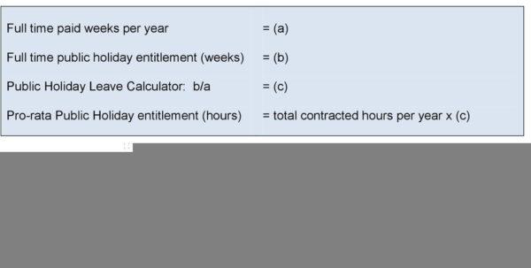 Holiday Entitlement Calculator Spreadsheet Regarding Calculating Holiday Entitlement. Guidance  Pdf