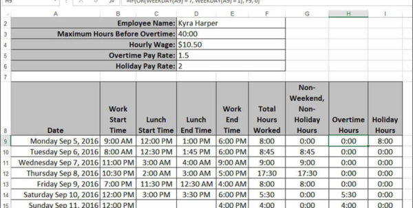 Holiday Pay Calculator Spreadsheet Within Working With Date And Time Functions  Harnessing The Power Of