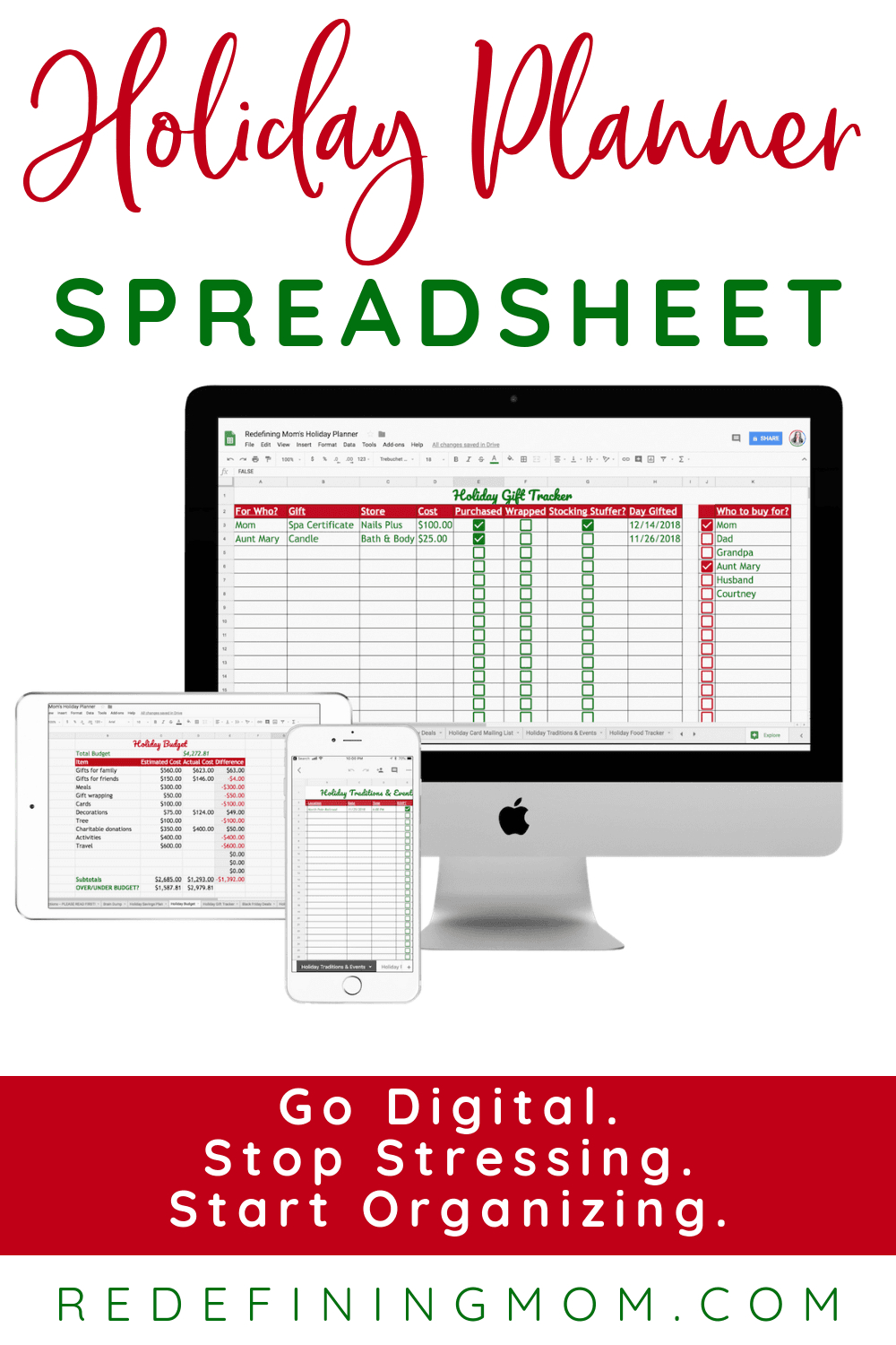 Holiday Planning Spreadsheet For The Ultimate Holiday Planner Spreadsheet