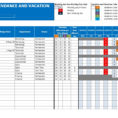 Holiday Planning Spreadsheet Intended For Employee Vacation Planner