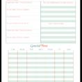 Holiday Planning Spreadsheet Regarding Vacation Planner Printables