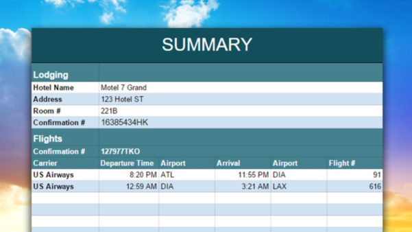 Holiday Planning Spreadsheet Within Organize And Share Your Vacation With This Travel Planning Spreadsheet