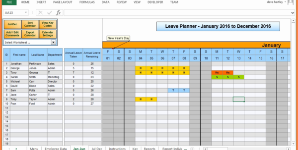 Holiday Spreadsheet Template 2018 In Annual Leave Chart Excel Template