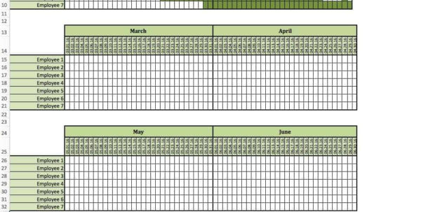 Holiday Spreadsheet Throughout Staff Vacation Planner Template  Pulpedagogen Spreadsheet Template Docs