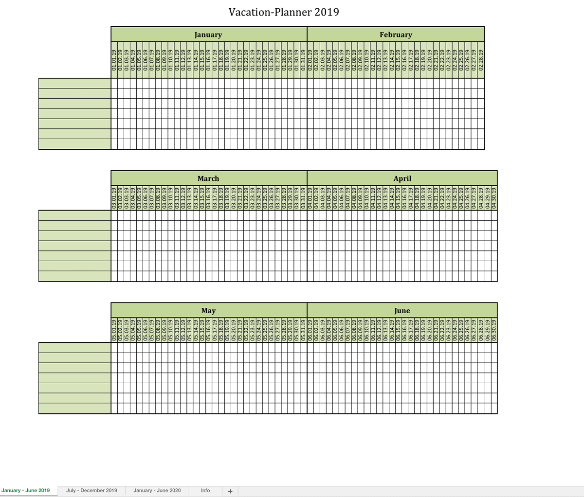 Holiday Spreadsheet Within Vacationplanner 2019  Excel Templates For Every Purpose