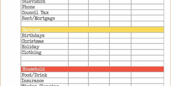 Home Accounts Spreadsheet In Free Excel Accounting Templates Small Business Template