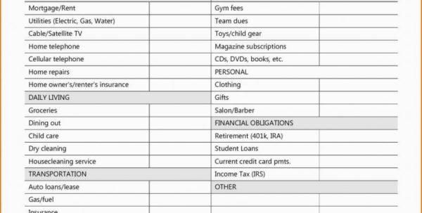 Home Budget Expenses Spreadsheet For Budget And Expenses Spreadsheet 47 Best Monthly Household Plan Home