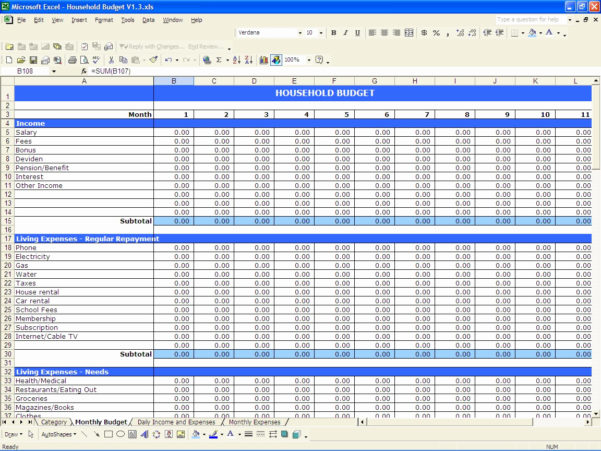 Home Budget Expenses Spreadsheet With Home Budget Spreadsheet Template Inspirational Bud And Expenses