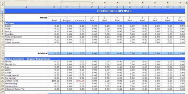 Home Budget Spreadsheet Excel Free In Home Budget Spreadsheet Free Templates Downloadable Uk Planner Excel