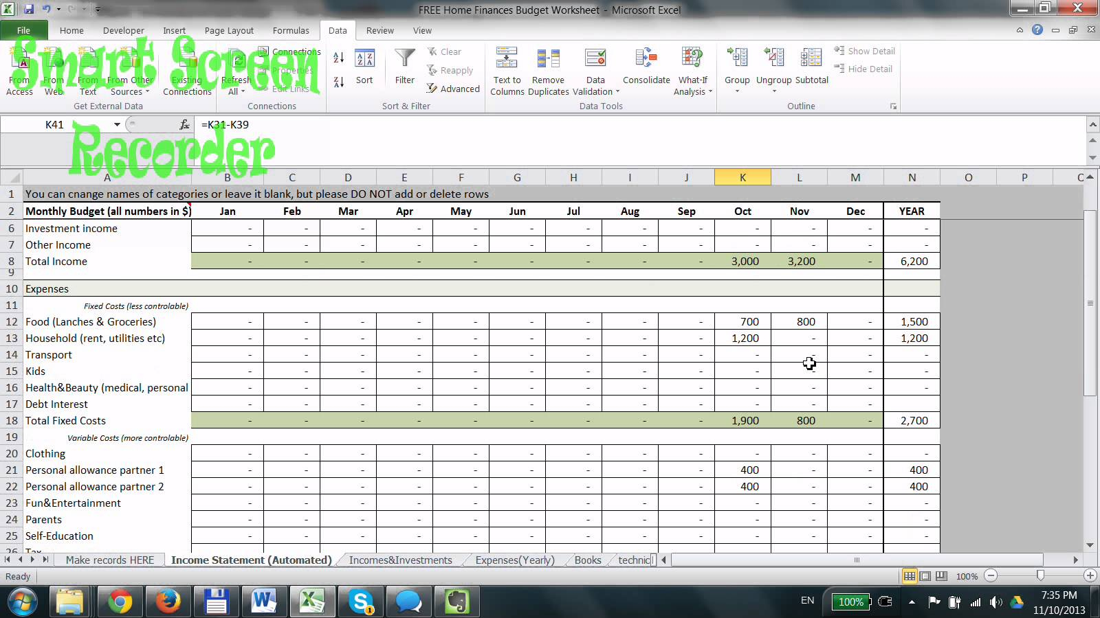 Home Budget Spreadsheet Excel with How To Make Home Budget Spreadsheet Do Household Worksheet Excel Use