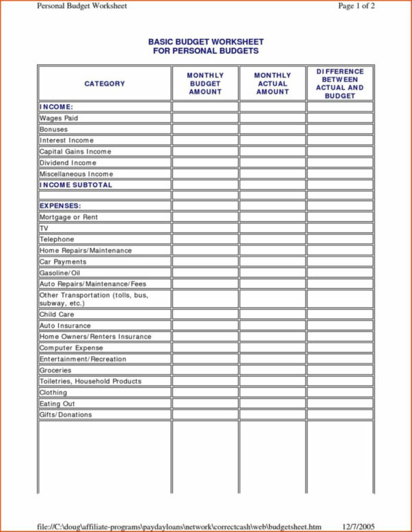 Home Budget Spreadsheet Template With Home Budget Spreadsheet Free And Household Bud Spreadsheet Bud