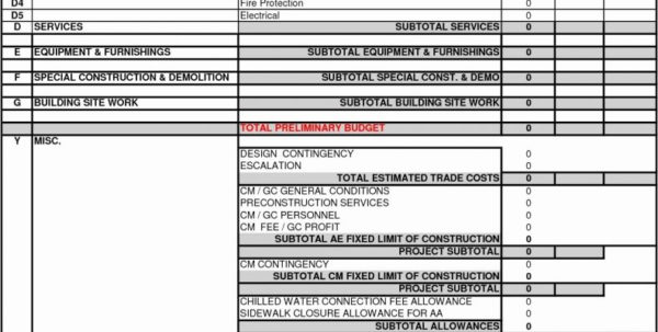 Home Building Cost Estimator Spreadsheet Within Building Cost Estimator Spreadsheet Estimate Excel Home Construction