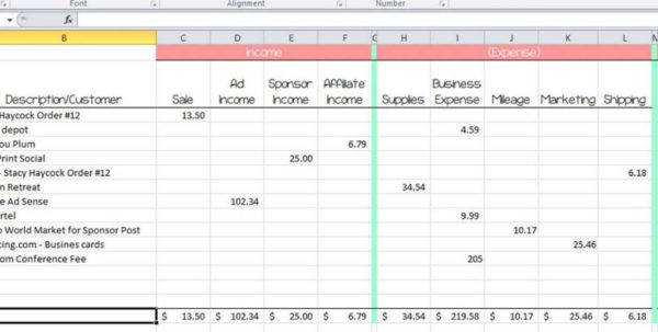 Home Business Expense Spreadsheet Within 100  [ Home Business Expense Spreadsheet ]  10 Free Household For